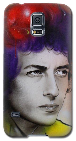 Bob Dylan - ' Dylan ' Galaxy S5 Case by Christian Chapman Art