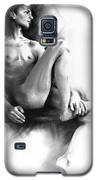 Galaxy S5 Case featuring the drawing Dylan by Paul Davenport