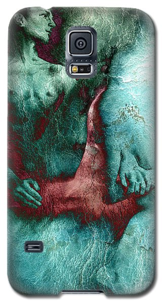 Galaxy S5 Case featuring the drawing Dylan With Mood Texture by Paul Davenport