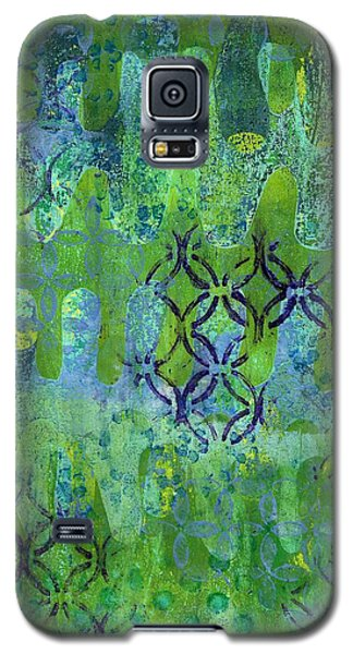 Galaxy S5 Case featuring the mixed media Dynamic 1 by Lisa Noneman