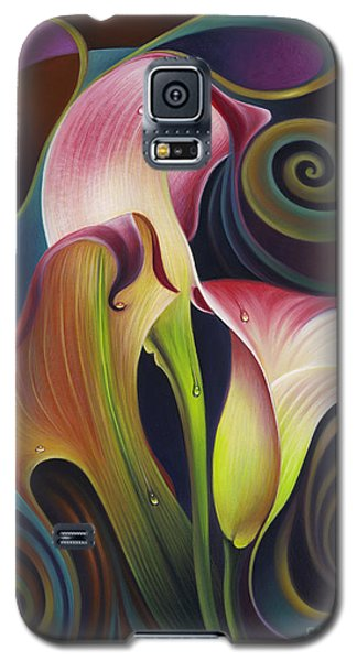 Dynamic Floral 4 Cala Lillies Galaxy S5 Case
