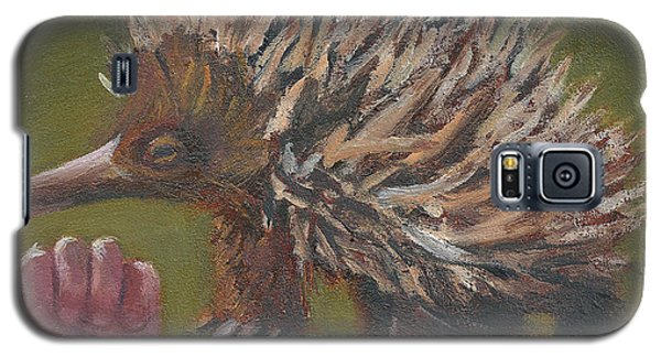 Galaxy S5 Case featuring the painting E Is For Echidna by Jessmyne Stephenson