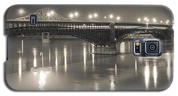 Eads Bridge And Train Galaxy S5 Case by Scott Rackers