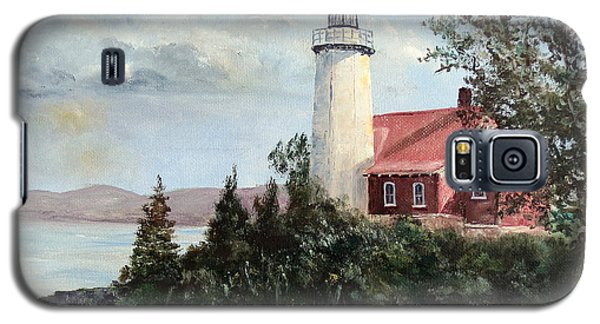 Eagle Harbor Light Galaxy S5 Case by Lee Piper