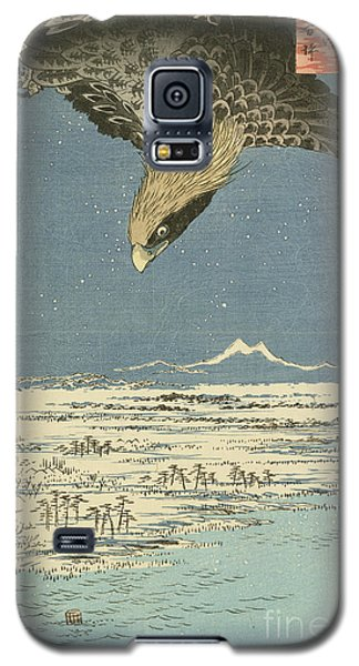 Eagle Over One Hundred Thousand Acre Plain At Susaki Galaxy S5 Case by Hiroshige