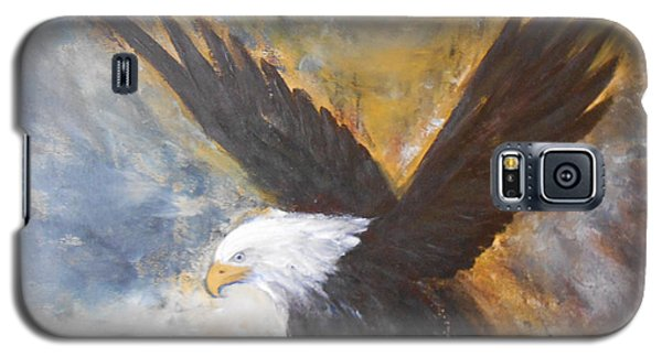 Galaxy S5 Case featuring the painting Eagle Spirit by Jane  See