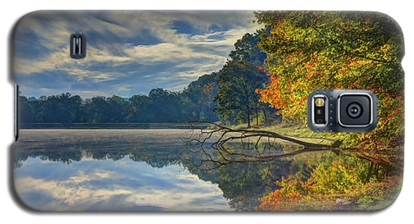 Galaxy S5 Case featuring the photograph Early Autumn At Caldwell Lake by Jaki Miller