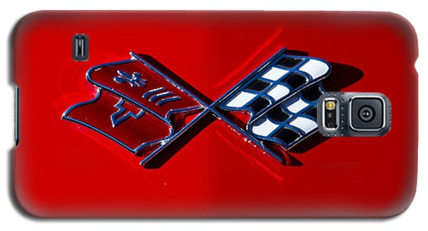 Early C3 Corvette Emblem Red Galaxy S5 Case by Dennis Hedberg