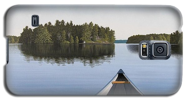 Galaxy S5 Case featuring the painting Early Evening Paddle  by Kenneth M  Kirsch