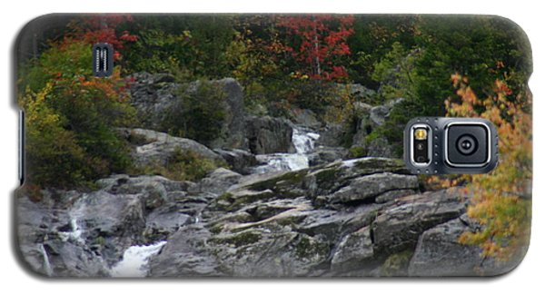 Galaxy S5 Case featuring the photograph Early Fall Waterfall by Denyse Duhaime