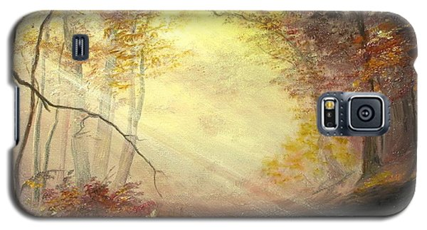 Galaxy S5 Case featuring the painting Early In The Morning by Sorin Apostolescu