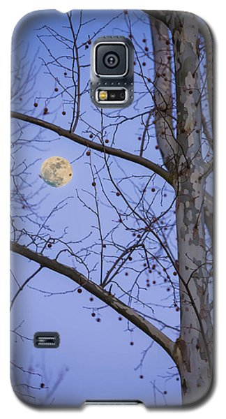 Galaxy S5 Case featuring the photograph Early Moon by Micah Goff