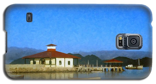 Galaxy S5 Case featuring the digital art Early Morning At The Lake by Spyder Webb