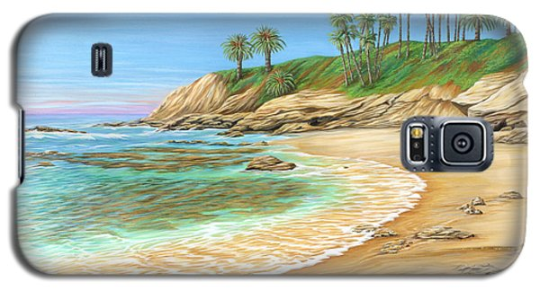 Galaxy S5 Case featuring the painting Early Morning Laguna by Jane Girardot