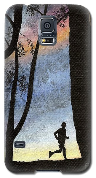 Galaxy S5 Case featuring the painting Early Morning Run by Mary Scott