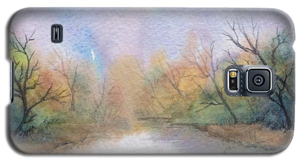 Galaxy S5 Case featuring the painting Early Morning Waterway by Rebecca Davis