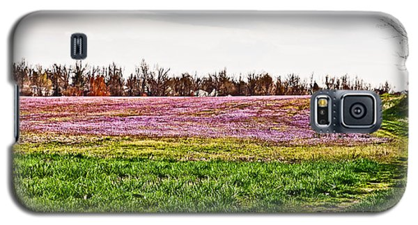 Galaxy S5 Case featuring the photograph Early Spring Field by Greg Jackson