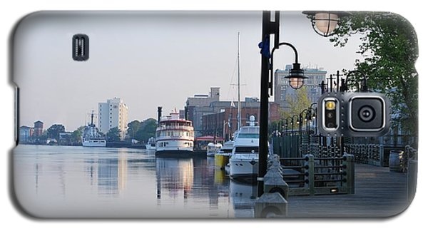 Galaxy S5 Case featuring the photograph Early Morning Walk Along The River by Bob Sample