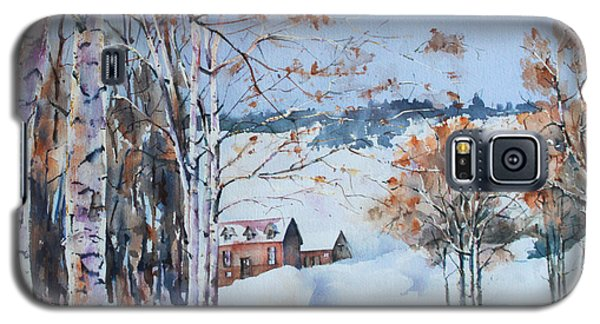 Galaxy S5 Case featuring the painting Early Winter Day by Marta Styk