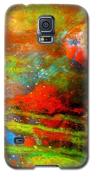 Earth And Sky Abstract Galaxy S5 Case by Carolyn Repka