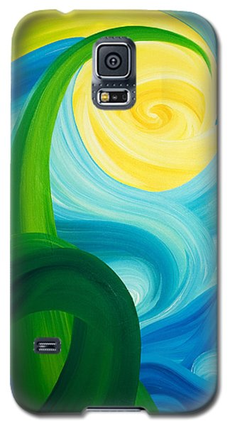 Galaxy S5 Case featuring the painting Earth And Sky Meet by Ginny Gaura