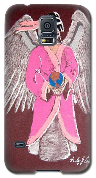 Galaxy S5 Case featuring the pastel Earth Angel by Wendy Coulson