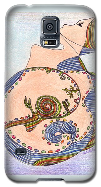 Galaxy S5 Case featuring the drawing Earth In Harmony by Mukta Gupta