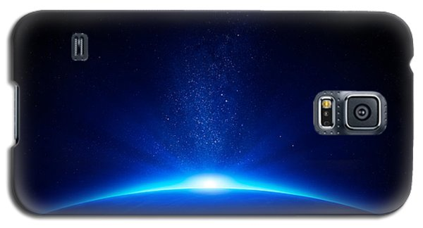 Earth Sunrise In Space Galaxy S5 Case by Johan Swanepoel