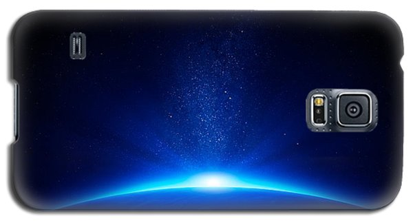 Beach Galaxy S5 Case - Earth Sunrise In Space by Johan Swanepoel