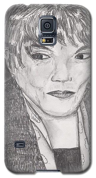 Galaxy S5 Case featuring the drawing Eartha Kitt by David Jackson