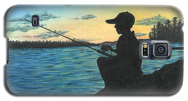 Galaxy S5 Case featuring the drawing East Pond by Troy Levesque