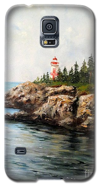 Galaxy S5 Case featuring the painting East Quoddy Head Light by Lee Piper