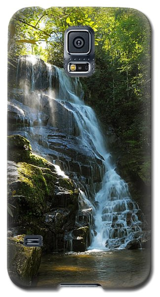 Galaxy S5 Case featuring the photograph Eastatoe Falls North Carolina by Charles Beeler