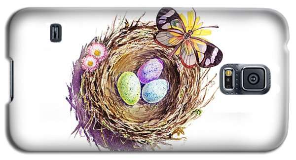 Easter Colors Bird Nest Galaxy S5 Case by Irina Sztukowski