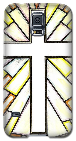 Galaxy S5 Case featuring the painting Easter Cross 3 by Jim Harris