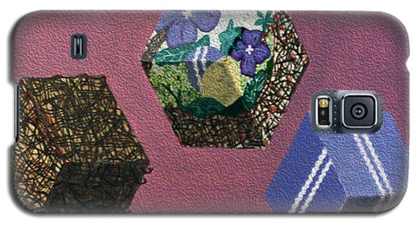 Galaxy S5 Case featuring the painting Easter Cubes - Painting by Megan Dirsa-DuBois