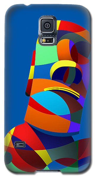 Easter Island Blue Galaxy S5 Case by Randall Henrie