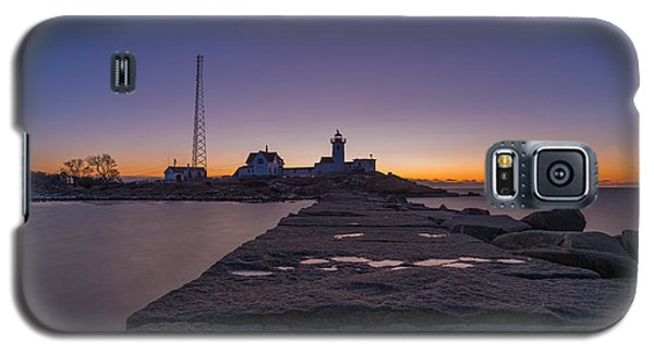 Eastern Point Lighthouse Just Before Sunrise Gloucester Ma Galaxy S5 Case