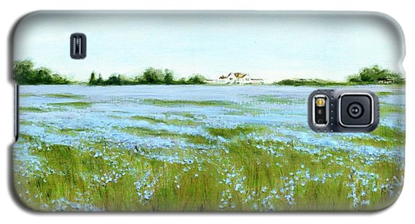 Eastern Shore Maryland Field Of Blue Flowers Galaxy S5 Case
