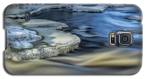 Eau Claire River Ice Galaxy S5 Case