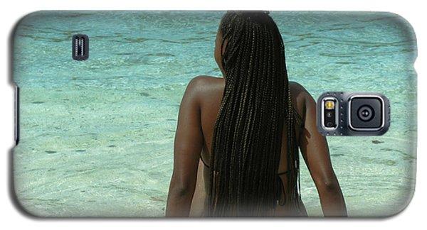 Ebony Queen On Beach Galaxy S5 Case