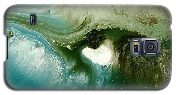Echo Green Abstract Art By Kredart Galaxy S5 Case