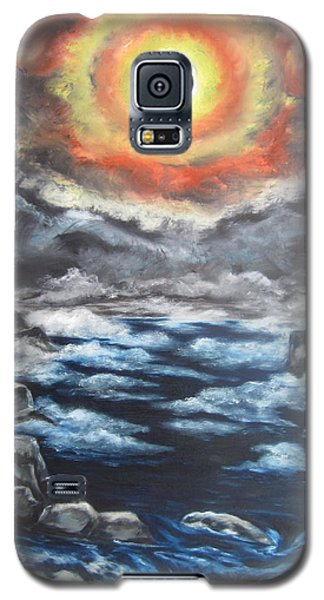 Galaxy S5 Case featuring the painting Eclipse by Cheryl Pettigrew