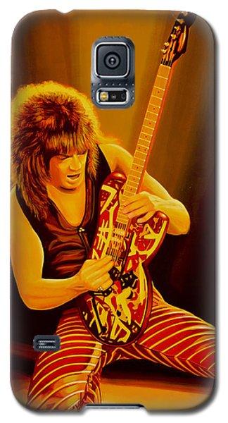 Eddie Van Halen Painting Galaxy S5 Case by Paul Meijering