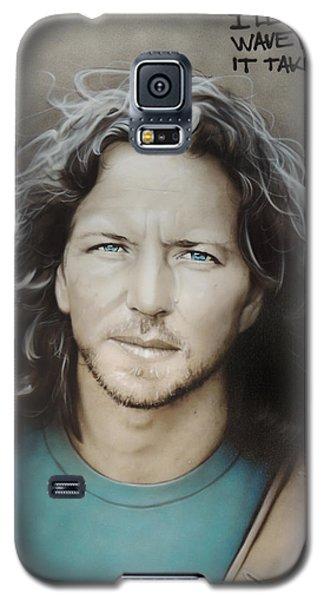 ' Eddie Vedder ' Galaxy S5 Case by Christian Chapman Art
