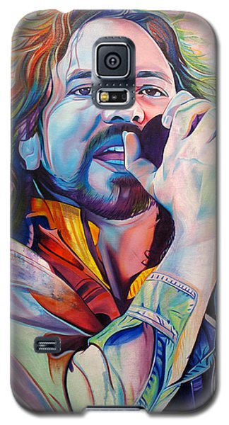 Seattle Galaxy S5 Case - Eddie Vedder In Pink And Blue by Joshua Morton