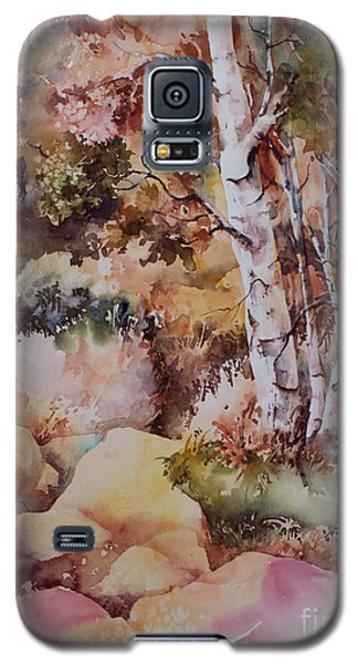 Galaxy S5 Case featuring the painting Edge Of The Forest by Marta Styk