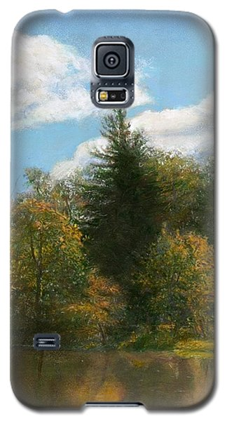 Galaxy S5 Case featuring the painting Edge Of The Pond by Wayne Daniels