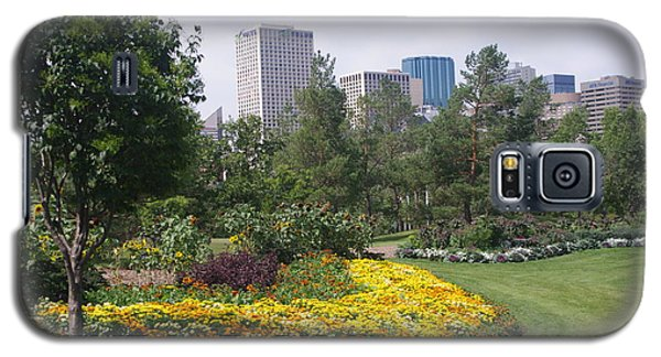 Galaxy S5 Case featuring the photograph Edmonton From Muttart Gardens by Sheila Byers