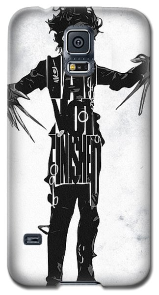Edward Scissorhands - Johnny Depp Galaxy S5 Case by Ayse Deniz